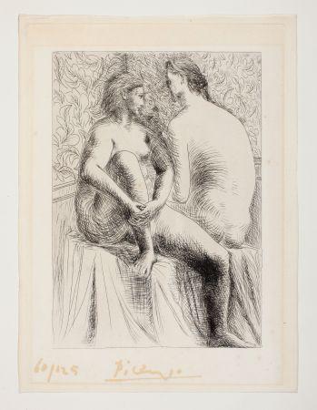 Офорт Picasso - Deux Femmes Nues