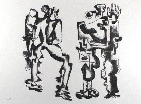 Литография Zadkine - Deux figures