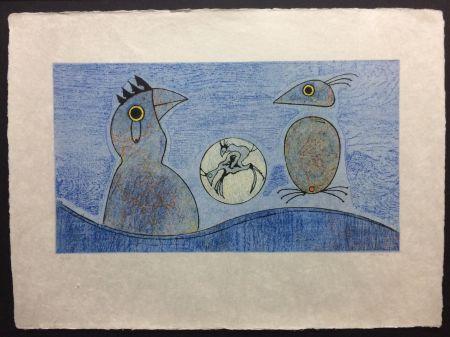 Литография Ernst - Deux Oiseaux