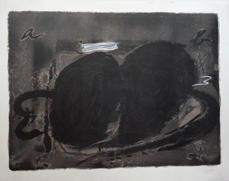 Литография Tàpies - Deux Utrous