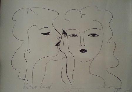 Литография Ting - Deux Visages