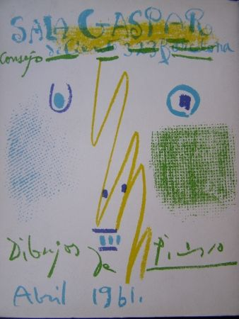 Литография Picasso - DIBUJOS PICASSO ABRIL 1961