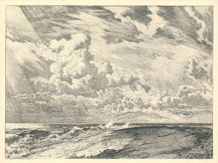 Литография Kätelhön - Die Düne (Heligoland)