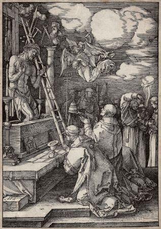 Гравюра На Дереве Durer - Die Messe Des Heiligen Gregor (The Mass Of St. Gregory)