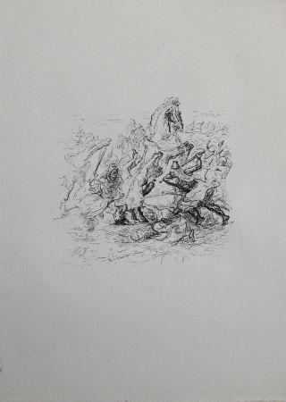 Литография Slevogt - Die Schlacht bei Kunaxa