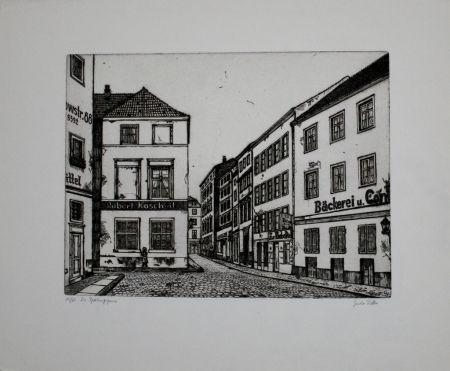 Гравюра Vetter - Die Sperlingsgasse