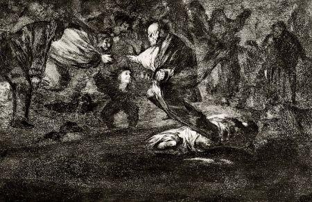 Офорт И Аквитанта Goya - Disparate fùnebre