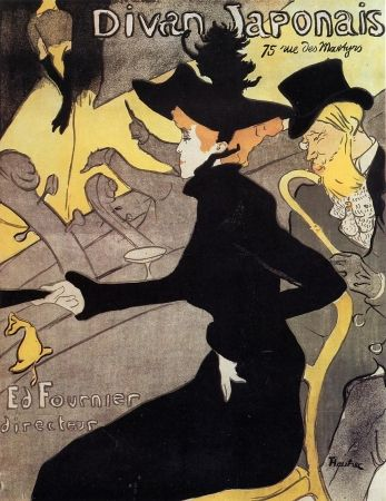 Литография Toulouse-Lautrec - Divan japonais