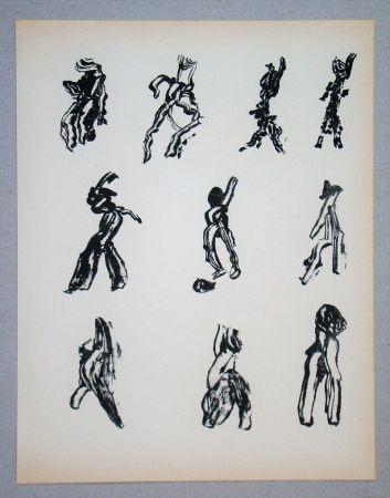 Литография Michaux - Dix Figures