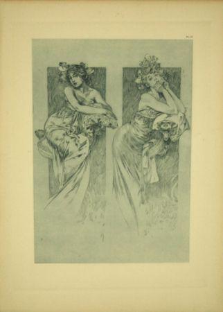 Литография Mucha - Document Décoratif  Planche N°12