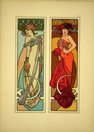 Литография Mucha - Document décoratif  Planche n° 45