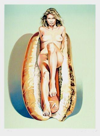 Литография Ramos - Doggie Dinah (Claudia Schiffer)