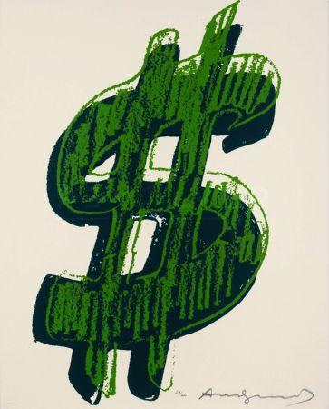 Сериграфия Warhol - Dollar Sign, Green (Fs Ii.278)