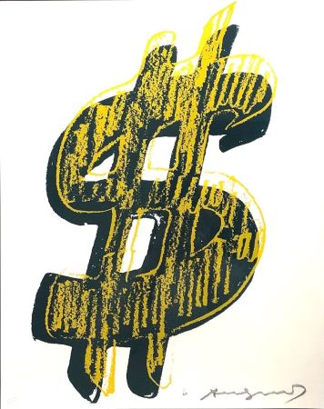 Сериграфия Warhol - Dollar Sign, Yellow  (FS II.278)