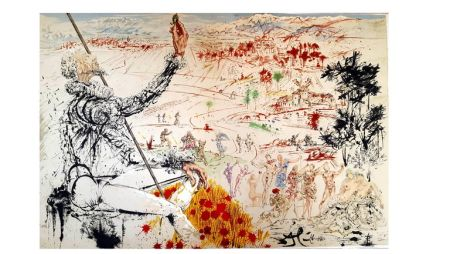 Литография Dali - Don Quichotte