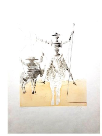 Литография Dali - Don Quixote et Sancho