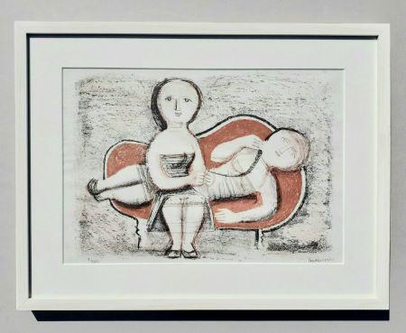 Литография Campigli - Donne sul divano