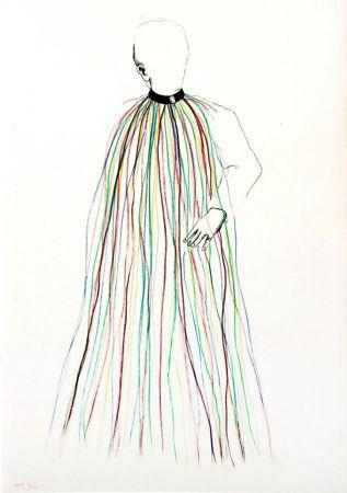 Литография Dine - Dorian Gray in Multi-Colored Vinyl Stripe Cape