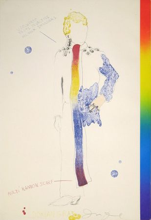 Литография Dine - Dorian Gray, Rainbow