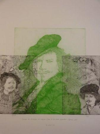 Гравюра Gendre-Bergère -  Double Je. Improvisation autour d'autoportraits gravés de Rembrandt