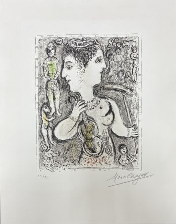Литография Chagall -  Double Visage