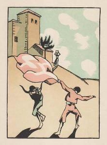 Гравюра На Дереве Hermann-Paul - Douze dessins pour amour de Goya, composés et gravés par Hermann-Paul