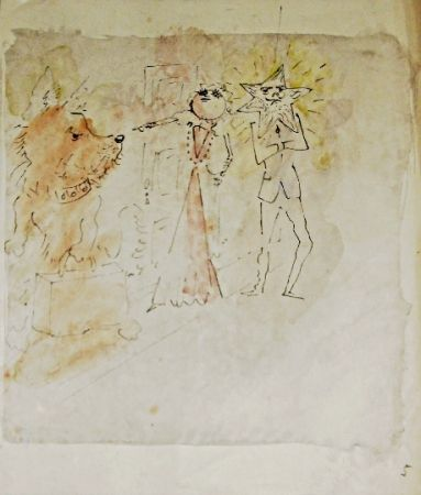Литография Cocteau - Drôle de ménage