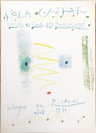Литография Picasso - Drawings by Picasso - poster - Sala Gaspar, Barcelona (
