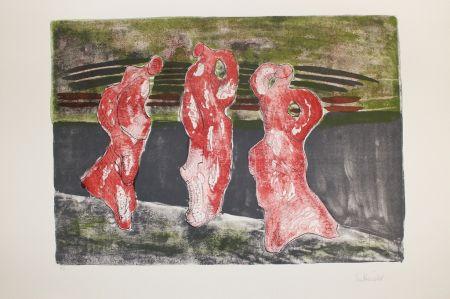 Литография Herold - Drei Figuren