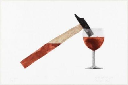 Литография Macchi - Drunk