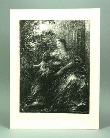Литография Fantin-Latour - Duo des Troyens (6º planche)