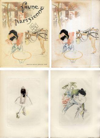 Иллюстрированная Книга Legrand - E. Ramiro : FAUNE PARISIENNE. La suite des gravures signées par Louis Legrand (1901)