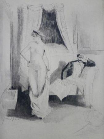 Гравюра Ablett - Eaux-fortes pour Nana, par William Ablett