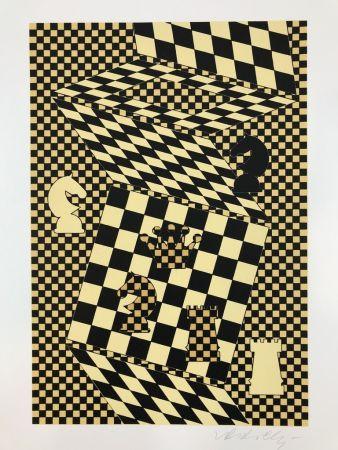 Литография Vasarely - ECHIQUIER