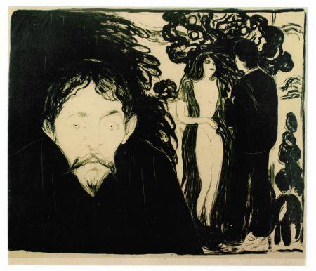 Литография Munch - Eifersucht (Jealousy)