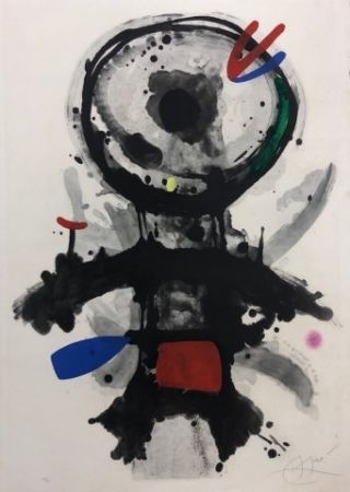 Офорт Miró - El angel acribillado
