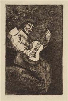 Офорт И Аквитанта Goya - El cantor ciego / The Blind Singer