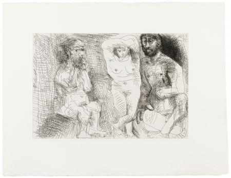 Иллюстрированная Книга Picasso - EL ENTIERRO DEL CONDE DE ORGAZ. 13 gravures originales (1969).
