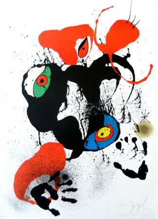 Литография Miró - El fogainer