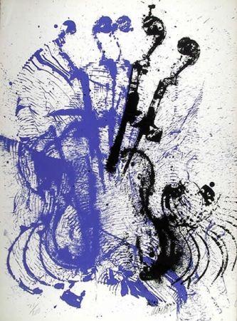 Сериграфия Arman - Electric Concerto