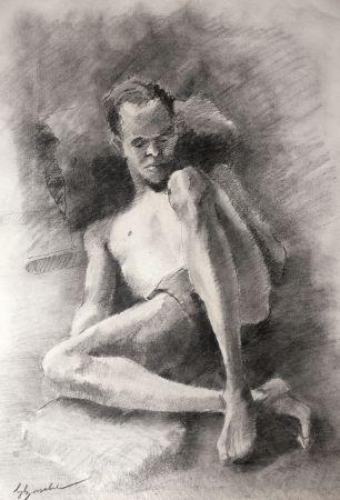 Нет Никаких Технических Bonabel - Eliane Bonabel / Louis-Ferdinand Céline - DESSIN ORIGINAL / ORIGINAL DRAWING - Nu Masculin / Male Nude - 1939