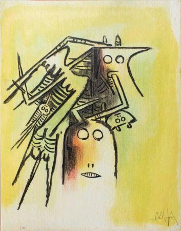 Литография Lam - Elle, casqué, from Pleni Luna