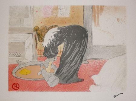 Литография Toulouse-Lautrec - Elles, femme au tub