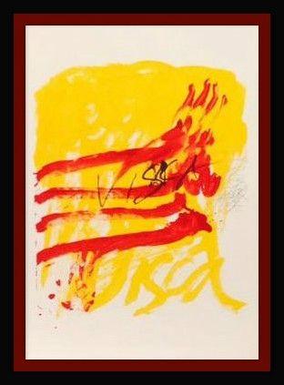 Литография Tapies - Els Mestres De Catalunya