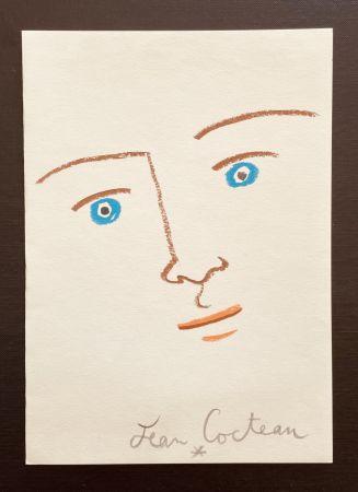 Литография Cocteau - En face yeux bleu