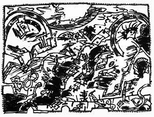 Литография Alechinsky - En fait (Etat en noir)