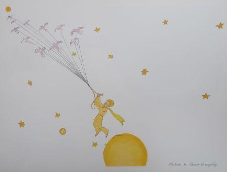 Литография Saint-Exupéry - En route vers une autre planéte
