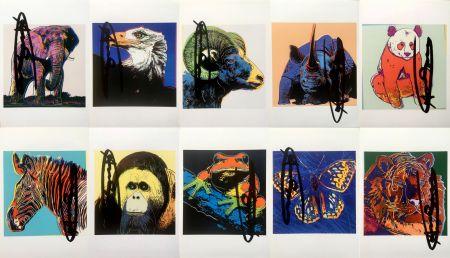 Литография Warhol - Endangered Species Announcement Cards (Set of 10) (Signed)