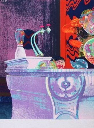 Сериграфия Cremonini - Enfant au bar