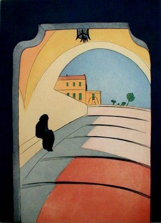 Гравюра Rathbone - Entrance to Monaco